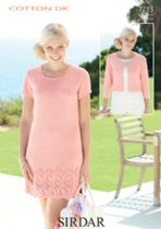 Sirdar Cotton DK Knitting Pattern - 7213 Dress and Jacket